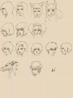 585th Sketches OC's (part IV) by M053AB