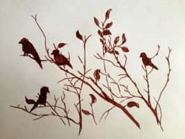 Felt-tip pen Birds by VLStone