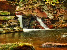 Ricketts Glen State Park 101 by Dracoart-Stock