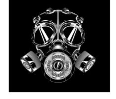 gas mask vector by cesterical