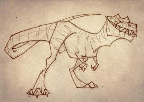 Dinosaur sketch by TheTundraGhost