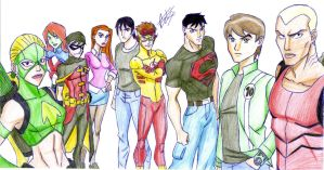 Ben 10 and Young Justice by celsohenrique