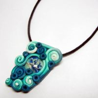 Polymer Clay Dolphin Pendant by Create-A-Pendant