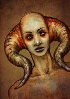 Horned Girl by richie-on-a-mission