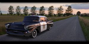 chevy on the road by kmpkt