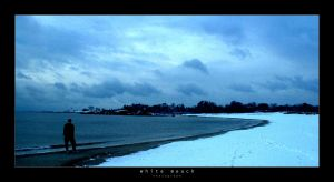 White Beach Photograph by goteki