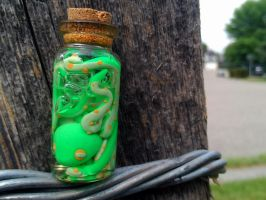 Outrageous Lime Flavour Octopus Bottle by VikingVal