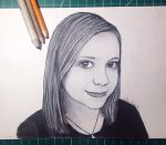 Baylee Jae Charcoal Portrait by HollyKPortraits