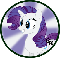 Rarity Button by SweetTextArt