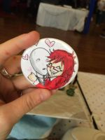 Grelle and Slenderman Button Commission by MistressMustang