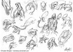 Creature Design: Sketches pg 2 by AustenMengler