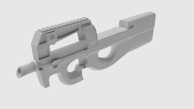 P90 Early Render 3 (Cycles) by Freelancer95