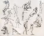 Anatomy Male Pose Studies by yolque