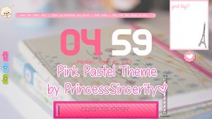 Pink Pastel Theme by PrincessSincerity by PrincessSincerity