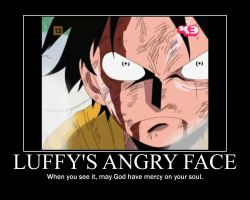 Luffy's Angry Face by WindMaster15
