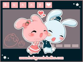 Bunny Love -- For Dark7pop7toy by MoogleGurl