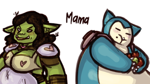 My two Mamas by ph00