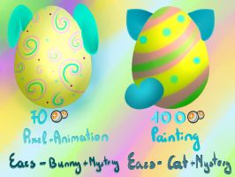 Easter Mystery Eggs Adopts (CLOSED) by PurpleNightTheKitty