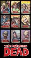 Walking Dead Comic Trading Cards by 3DXStudios