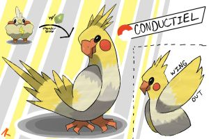 Cockatiel Fakemon by TRspicy