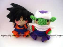 Goku and Piccolo Amigurumi by AnyaZoe