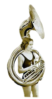 Vintage Tuba Bather cut out by SolStock