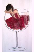 Glass of Wine by toychild