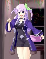 Hallowe'en with Nepgear by wbd