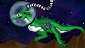 .:Art-trade with thejiggymonster:Space Monster:. by matrix9000