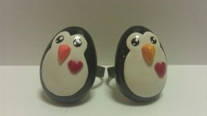 penguin rings by ColleensCritters