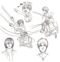 first few aot sketches ever by Jazzie560