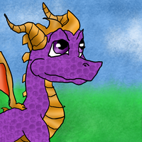 Spyro *Left-Hand-Drawing* by BlueEvelyn