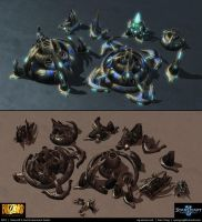 Starcraft II: Aiur Environment Assets 2013 by cg-sammu