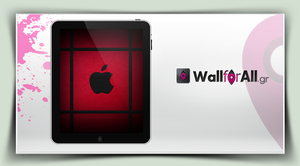 red_black_ipad by WallforAll