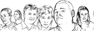 Family Sketches001 by MissleMan