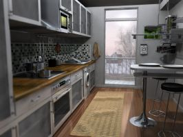 Kitchen 3D by kallestar23