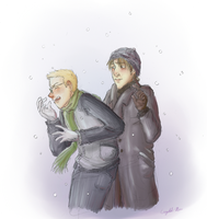 Winter doodle by Crystal-Mew