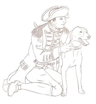 General Howe and his Dog by bigbellyfatbob