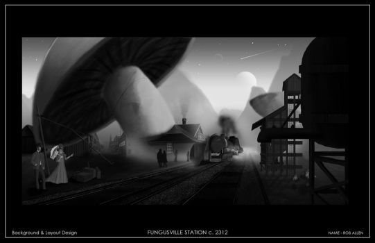 Fungusville Station by my-art-rebirth
