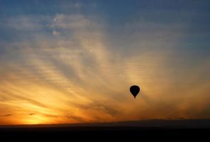 balloon safari sunrise by eocjtlels