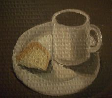 Oil Painting 5 - Coffee and Cake by KingJackalope