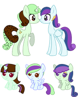 Minty Chip Breedable with nancy97 by strawbellycake
