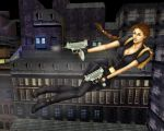 Tomb Raider 3, Catsuit, Uzis in color by alineshenon