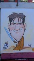 Charlie Sheen caricature by marcocano