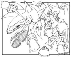 Team Sonic-Lineart by goldhedgehog