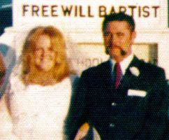 Parents Wedding Photo - Enhanced by CliffEngland