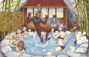 World of Esras - Round 2 - Onsen by MacskArt-Miyaou