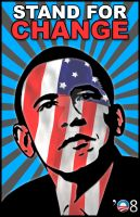 Obama 08 Poster by paintballer251
