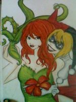 Poison Ivy y Harley Quinn by kuroshiromuse20