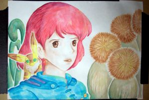 Nausicaa .:watercolor:. by cordria